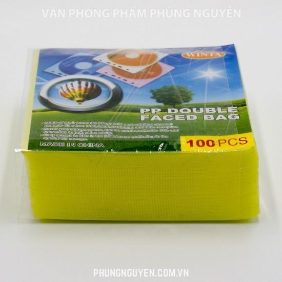 Vỏ đựng đĩa nilon - (100c/Tập)