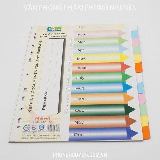 Chia file giấy 12 màu