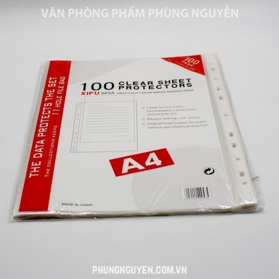File đục lỗ A4 Mỏng (100c/túi)
